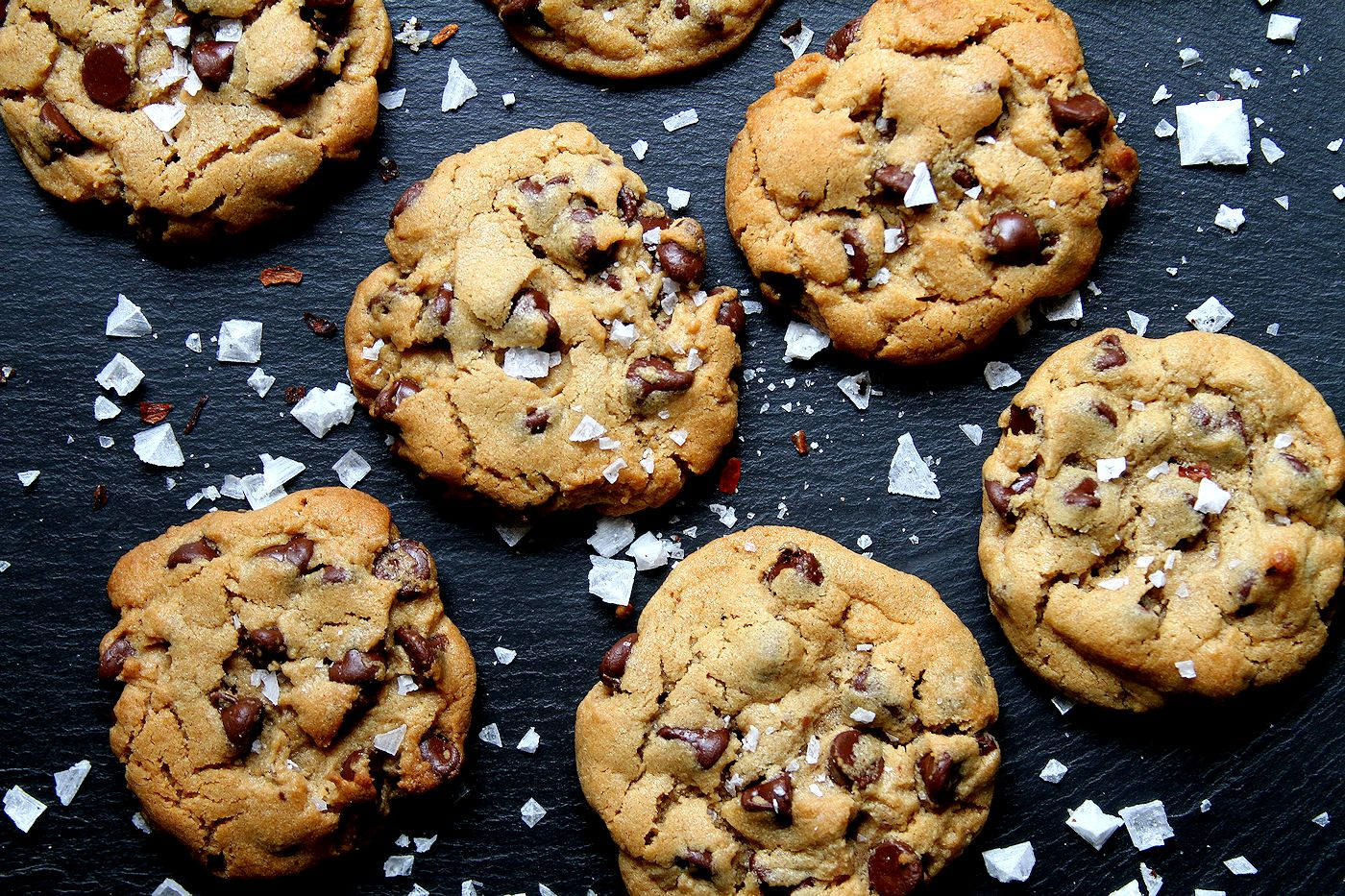 Spicy Peanut Butter Chocolate Chip Cookies with Chipotle Sea Salt ...