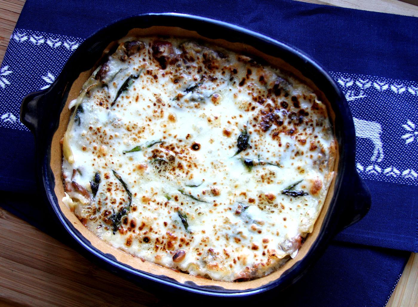 spinach mushroom lasagna  a cup of sugar … a pinch of salt