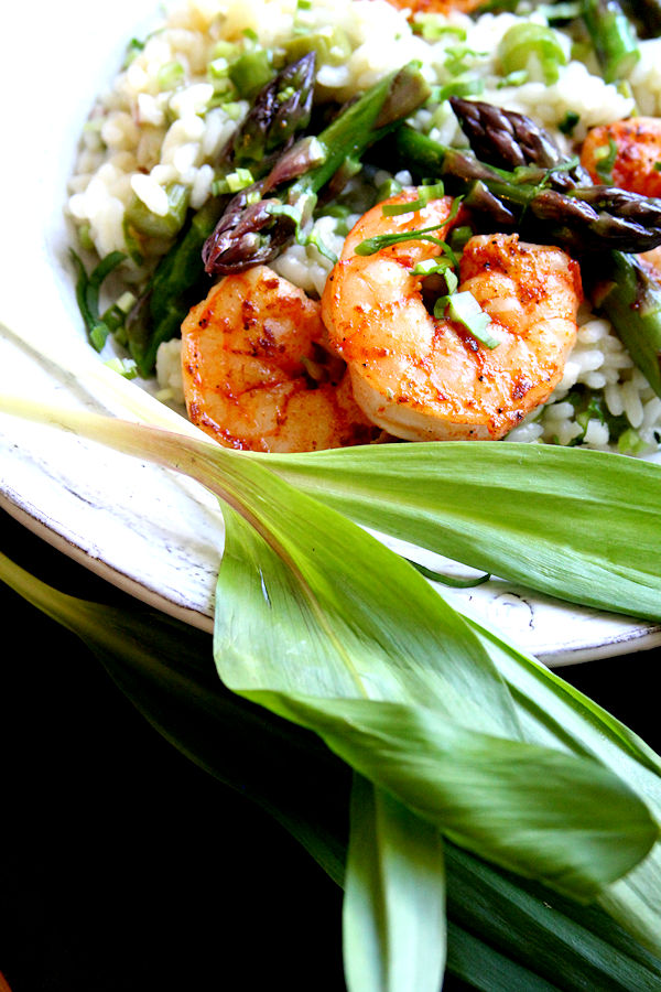 Asparagus and Wild Garlic Risotto, with Spicy Shrimp – A Cup of ...