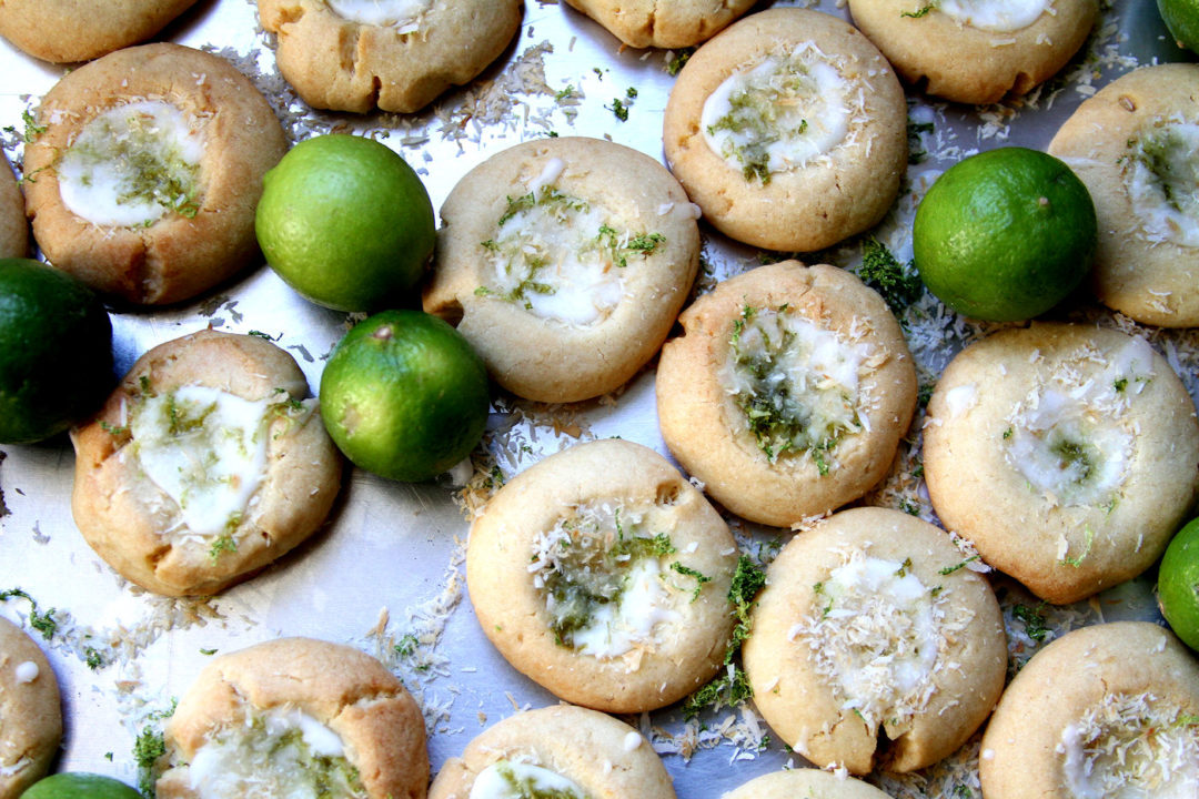 Coconut Key Lime Thumbprint Cookies – A Cup of Sugar … A Pinch of ...