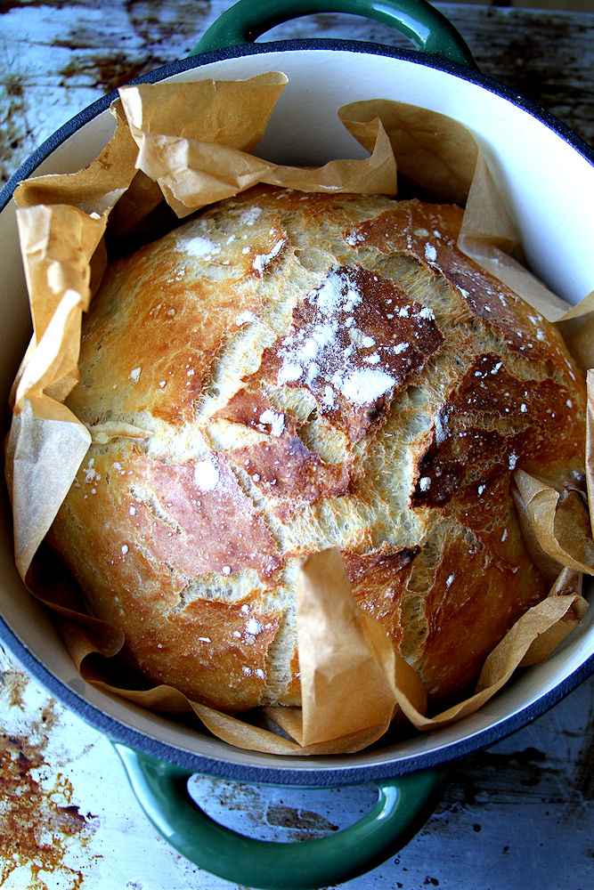 Rustic French Boule In A Dutch Oven A Cup Of Sugar A
